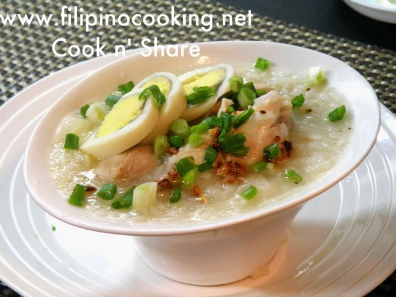 how to cook goto arroz caldo