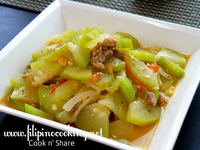 Ginisang upo cook n share world cuisines ginisang upo forumfinder Choice Image