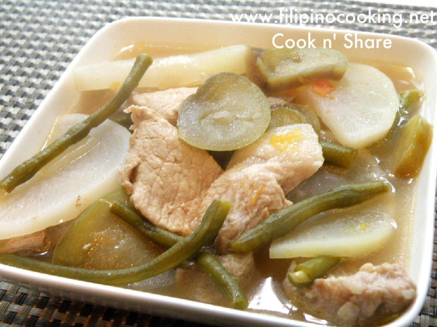 Pork Sinigang Sinigang Na Baboy Cook N Share World Cuisines