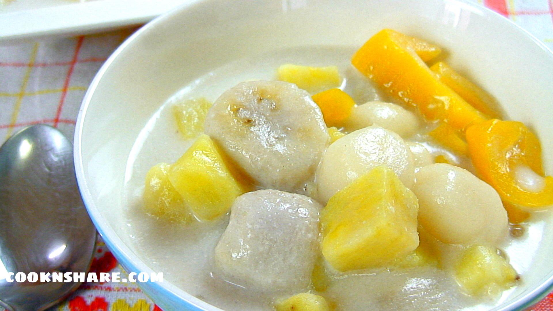Ginataang Bilo-Bilo (rice balls)