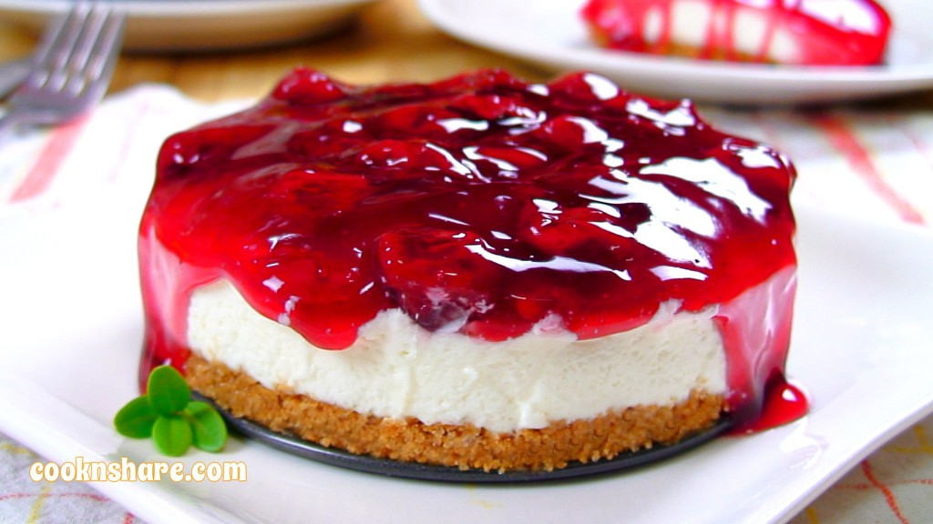 No Bake Cherry Cheesecake | Cook n' Share - World Cuisines