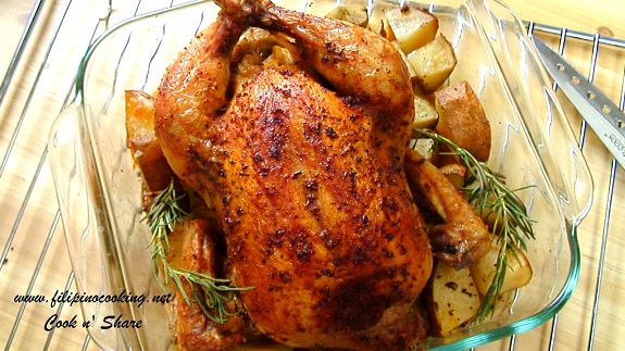 spiced roasted chicken is one of many roasted chicken recipes