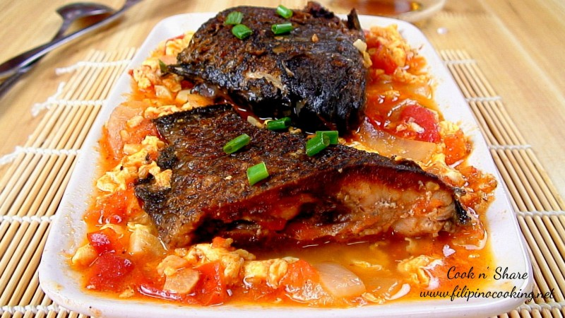 Stewed Fish With Tomatoes And Egg Cook N Share World
