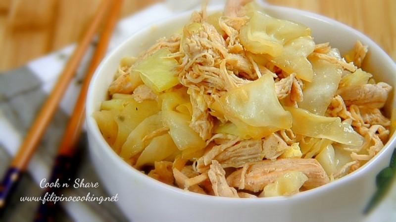 stir fried cabbage and chicken