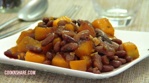 Red Beans and Squash in Hoisin Sauce