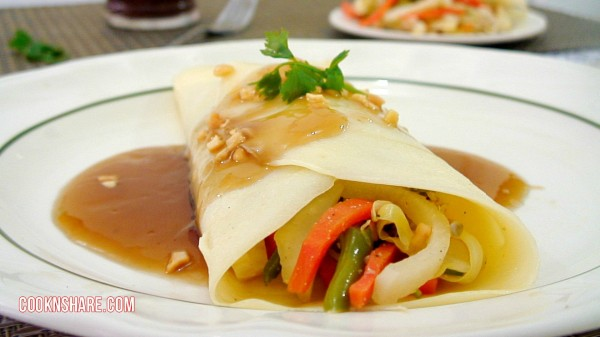 Chicken and Veggie Crepes