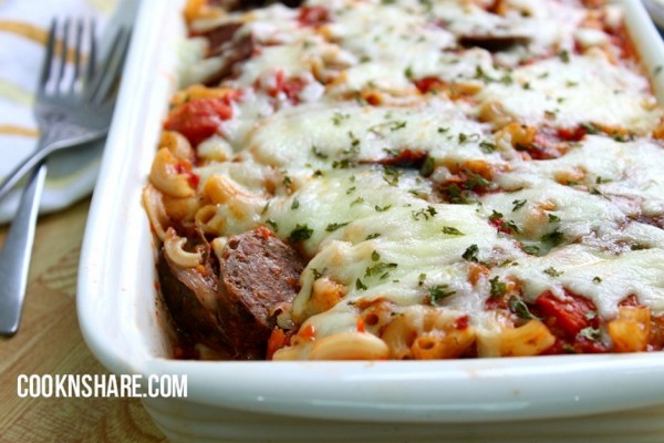 Italian Sausage in Spiced Tomatoes Casserole