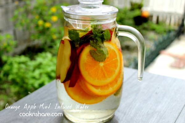 Orange Apple Mint Infused (Detox) Water