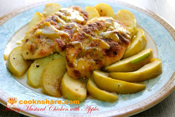 Honey Mustard Apple Chicken