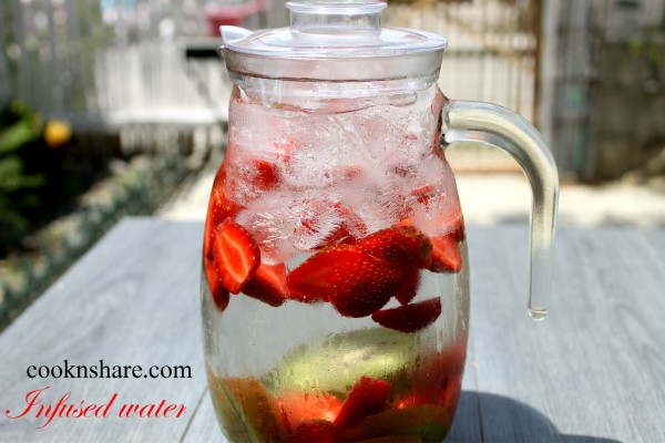 Strawberry Kiwi Infused (Detox) Water