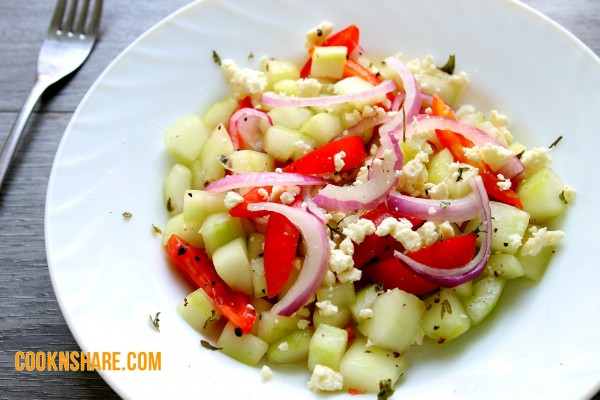 Greek Cucumber Summer Salad