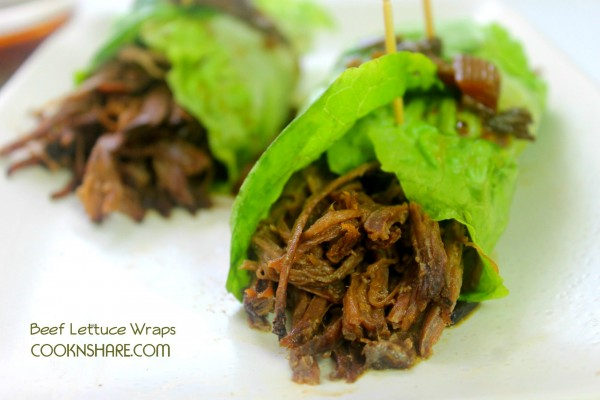 Slow Cooker Beef Lettuce Wraps