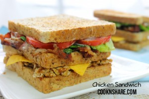 double decker chicken sandwich