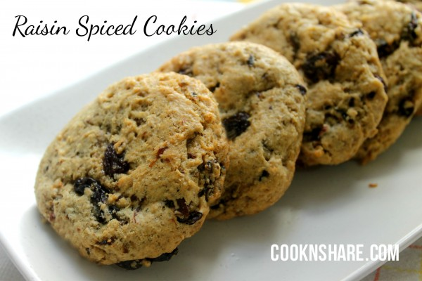 Raisin Spiced Cookies