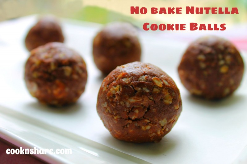 No Bake Nutella Cookie Balls - 4 Ingredients | Cook n' Share - World ...