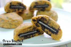 oreo stuffed chocolate chip cooies