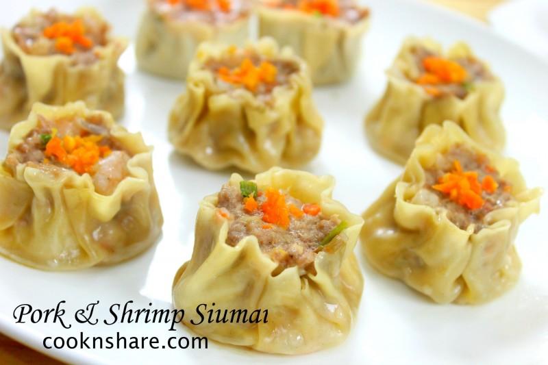 pork and shrimp siumai