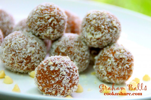 Graham Balls – 4 Ingredients