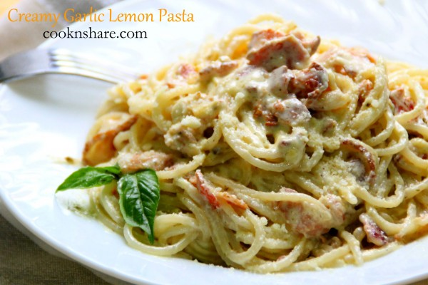 Creamy Garlic and Lemon Pasta