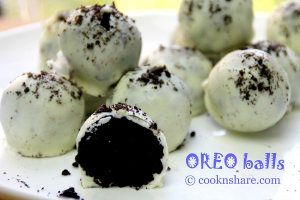 No Bake White Chocolate Oreo Balls
