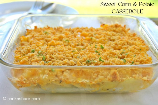Potatoes and Sweet Corn Casserole