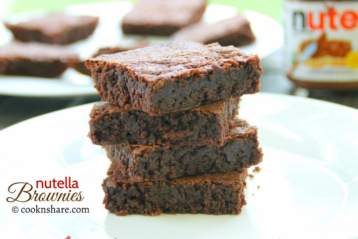 nutella brownies