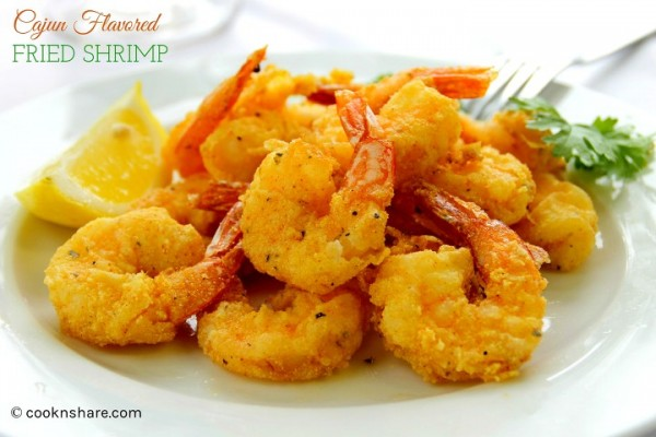 Cajun Flavored Fried Shrimp