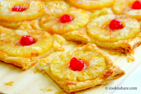 Pineapple Cherry Pasty