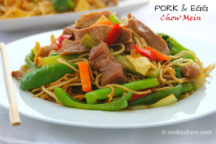 pork and egg chowmein