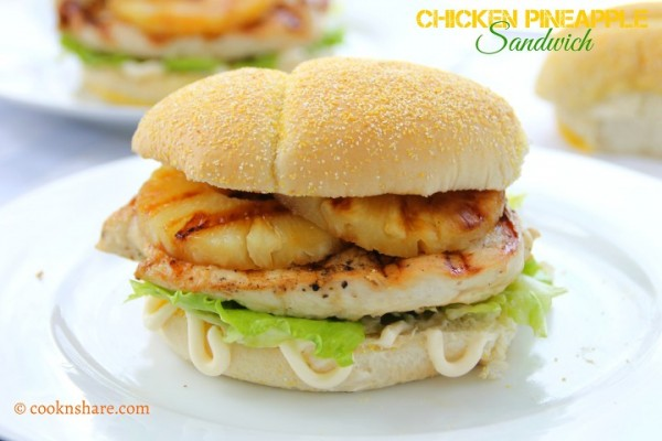 Chicken Pineapple Sandwich