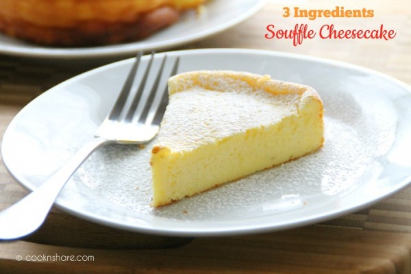 Souffle Cheesecake – 3 Ingredients