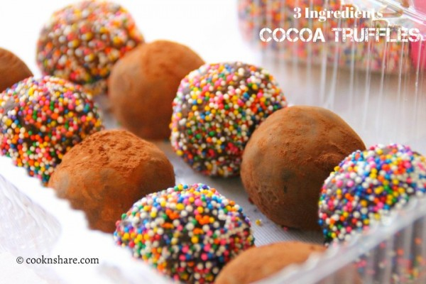 Cocoa Truffles – 3 Ingredients