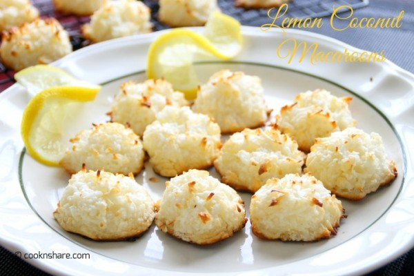 Coconut Lemon Macaroons