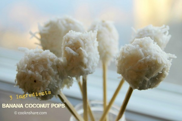 Banana Coconut Pops – 3 Ingredients