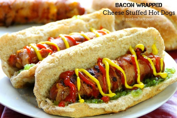 Bacon Wrapped Stuffed Cheese Dogs