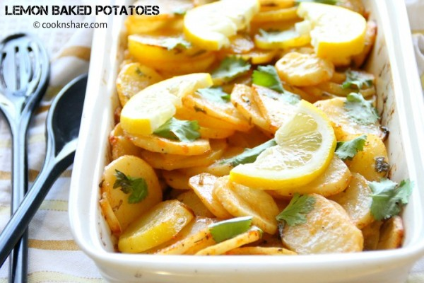 Lemon Baked Potatoes