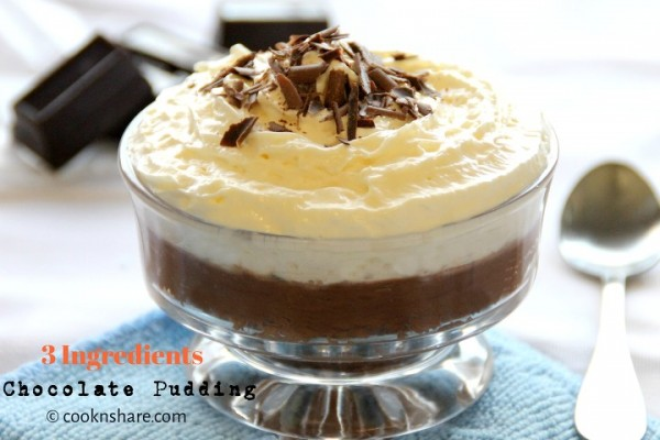 Chocolate Pudding – 3 Ingredients
