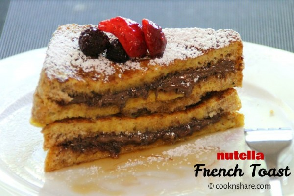 French Toast Nutella Sandwich