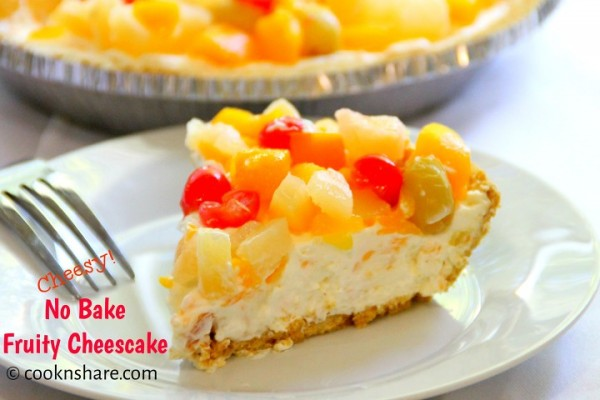 No Bake Fruit Cheesecake