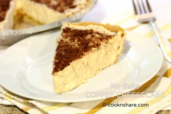 No Bake Coffee Cheesecake