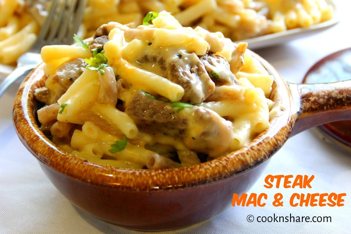 steak mac and cheese