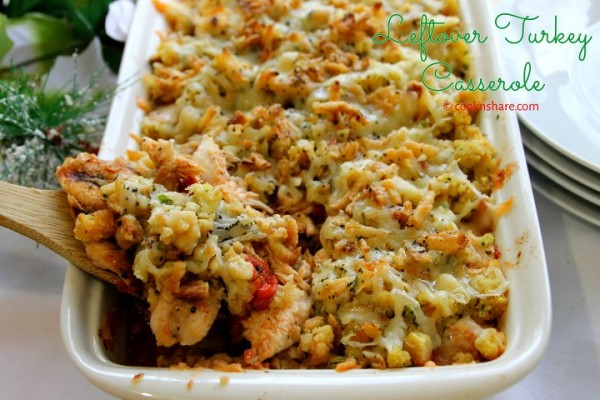 Leftover Turkey/Chicken with Stuffing Casserole