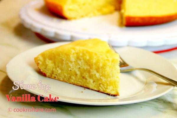 Stove Top Vanilla Cake
