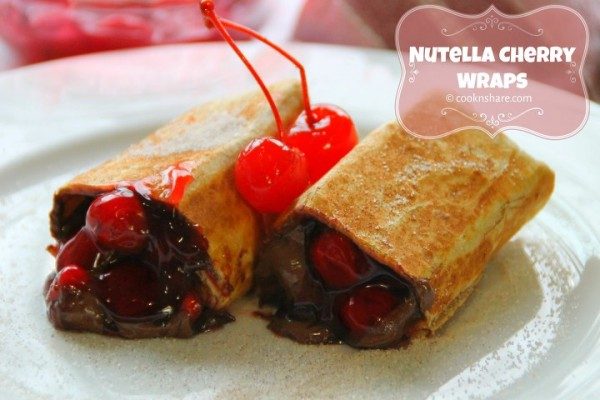 Nutella Cherry Wraps – 5 Ingredients