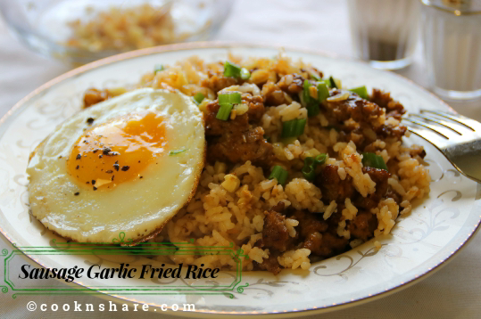 Sausage Garlic Fried Rice