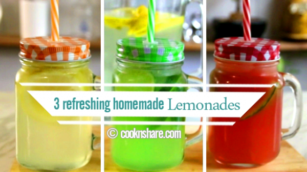 Homemade Lemonade Made 3 Ways