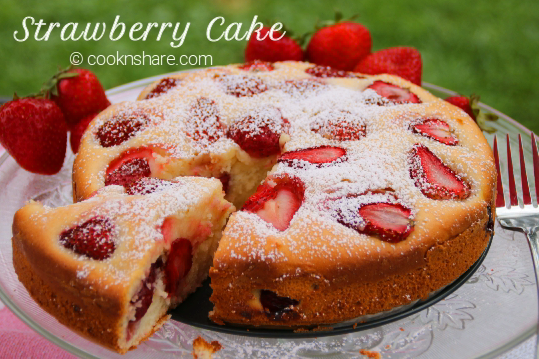 One Bowl Strawberry Cake