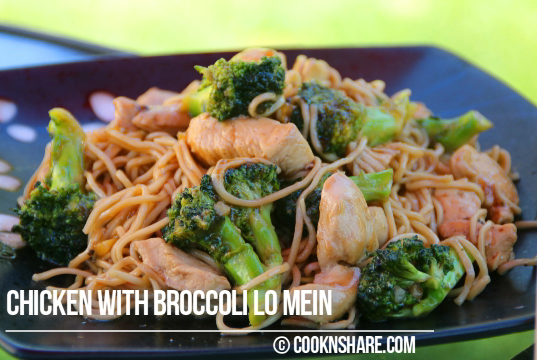 Chicken and Broccoli Lo Mein