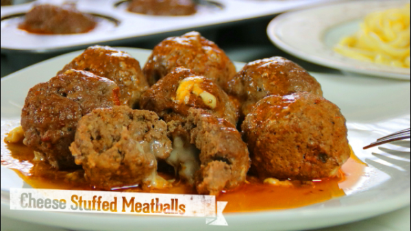 Cheese Stuffed Meat Balls