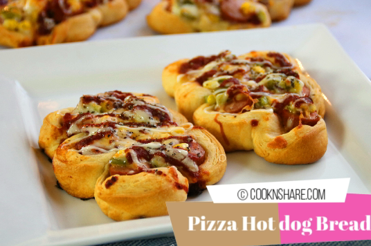 korean hot dog pizza bread